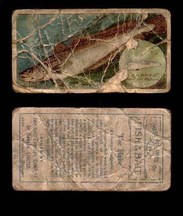 1910 Fish and Bait Imperial Tobacco Vintage Trading Cards You Pick Singles #1-50 #26 The Flake  - TvMovieCards.com