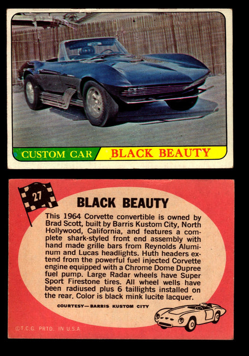 Hot Rods Topps 1968 George Barris Vintage Trading Cards You Pick Singles #27 Black Beauty  - TvMovieCards.com