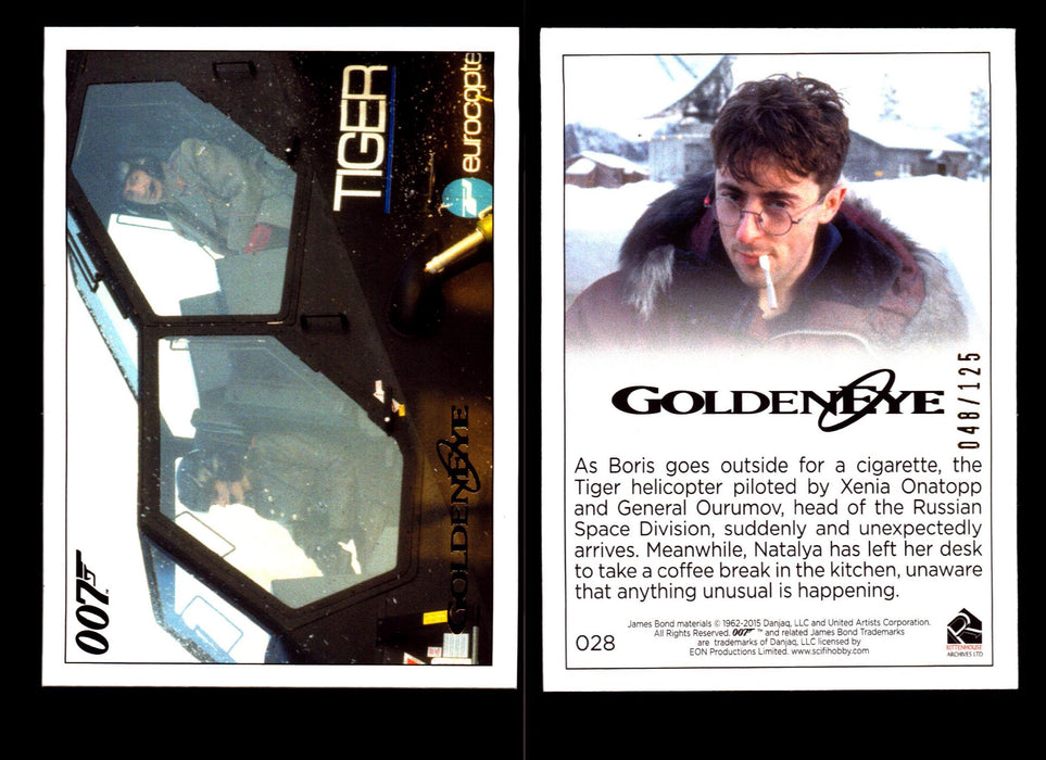 James Bond Archives 2015 Goldeneye Chase Card #19 Losse kaarten Verzamelingen