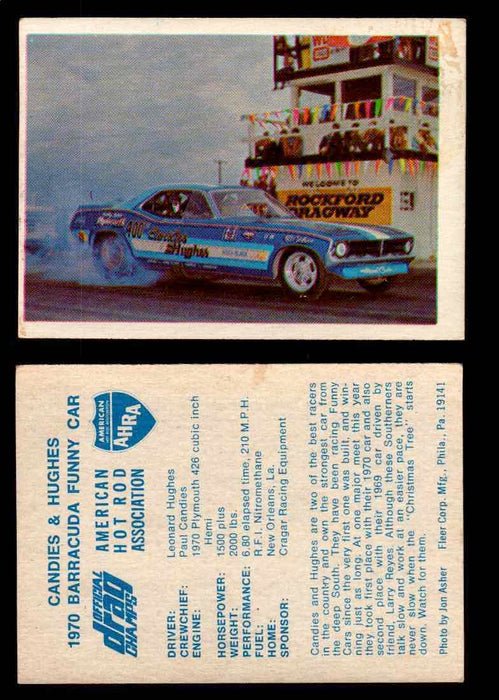 AHRA Official Drag Champs 1971 Fleer Vintage Trading Cards You Pick Singles 29   Candies & Hughes                                 1970 Barracuda Funny Car  - TvMovieCards.com
