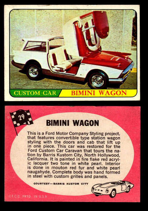 Hot Rods Topps 1968 George Barris Vintage Trading Cards You Pick Singles #29 Bimini Wagon  - TvMovieCards.com