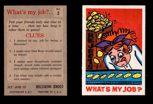1965 What's my Job? Leaf Vintage Trading Cards You Pick Singles #1-72