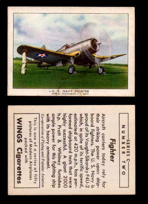 1942 Modern American Airplanes Series C Vintage Trading Cards Pick Singles #1-50 2	 	U.S. Navy Fighter  - TvMovieCards.com