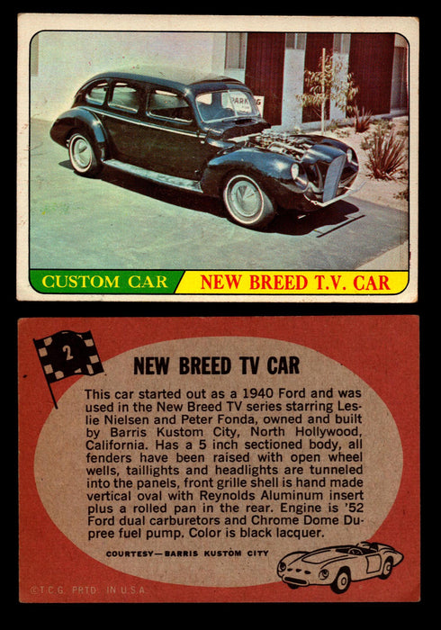 Hot Rods Topps 1968 George Barris Vintage Trading Cards You Pick Singles #2 New Breed TV Car  - TvMovieCards.com