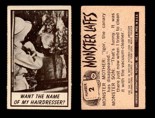 1966 Monster Laffs Midgee Vintage Trading Card You Pick Singles #1-108 Horror #2  - TvMovieCards.com