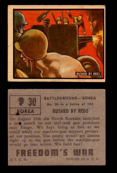 1950 Freedom's War Korea Topps Vintage Trading Cards You Pick Singles #1-100 #30  - TvMovieCards.com