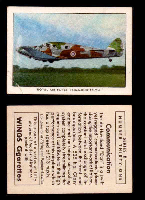 1941 Modern American Airplanes Series B Vintage Trading Cards Pick Singles #1-50 31	 	Royal Air Force Communication  - TvMovieCards.com