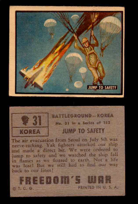 1950 Freedom's War Korea Topps Vintage Trading Cards You Pick Singles #1-100 #31  - TvMovieCards.com