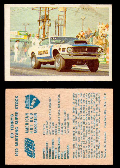 AHRA Official Drag Champs 1971 Fleer Vintage Trading Cards You Pick Singles 31   Ed Terry's                                       1970 Mustang Super Stock  - TvMovieCards.com