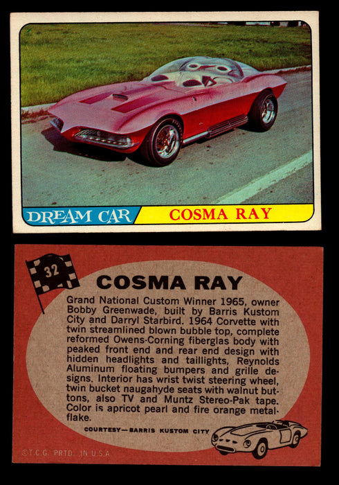 Hot Rods Topps 1968 George Barris Vintage Trading Cards You Pick Singles #32 Cosma Ray  - TvMovieCards.com