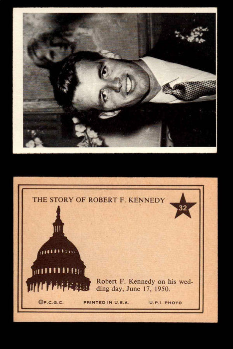 1968 The Story of Robert F. Kennedy JFK PCGC Trading Card You Pick Singles #1-66 #32  - TvMovieCards.com