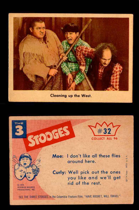 1959 Three 3 Stooges Fleer Vintage Trading Cards You Pick Singles #1-96 #32  - TvMovieCards.com