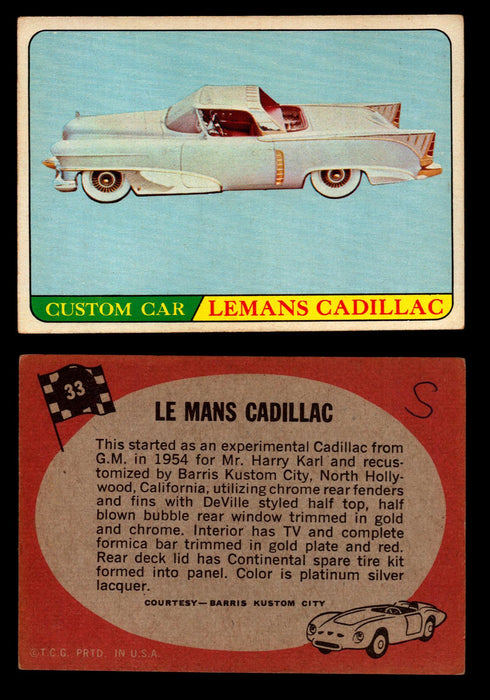 Hot Rods Topps 1968 George Barris Vintage Trading Cards You Pick Singles #33 Le Mans Cadillac  - TvMovieCards.com