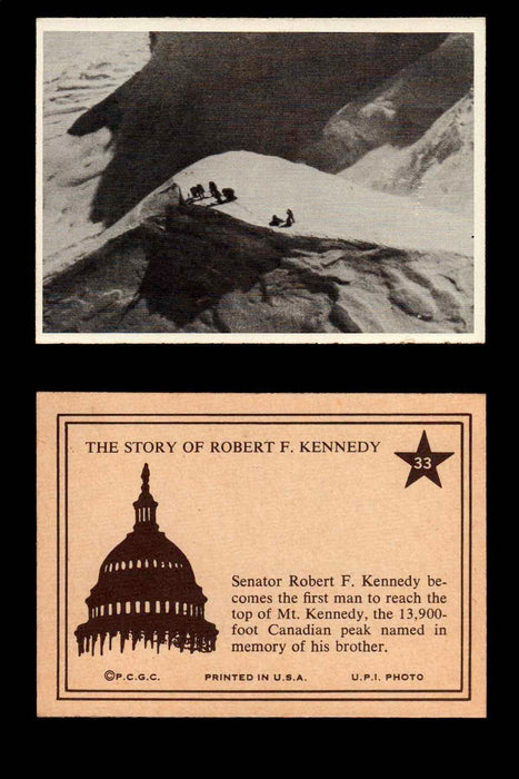1968 The Story of Robert F. Kennedy JFK PCGC Trading Card You Pick Singles #1-66 #33  - TvMovieCards.com
