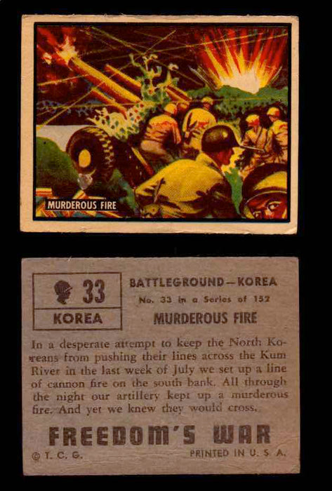 1950 Freedom's War Korea Topps Vintage Trading Cards You Pick Singles #1-100 #33  - TvMovieCards.com