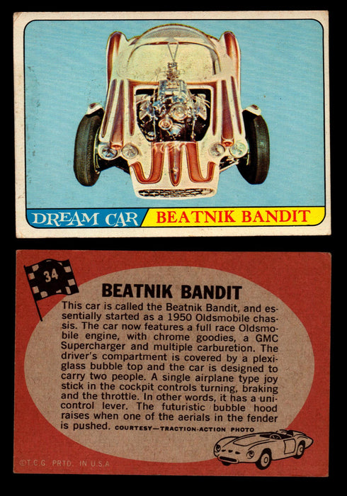 Hot Rods Topps 1968 George Barris Vintage Trading Cards You Pick Singles #34 Beatnik Bandit  - TvMovieCards.com