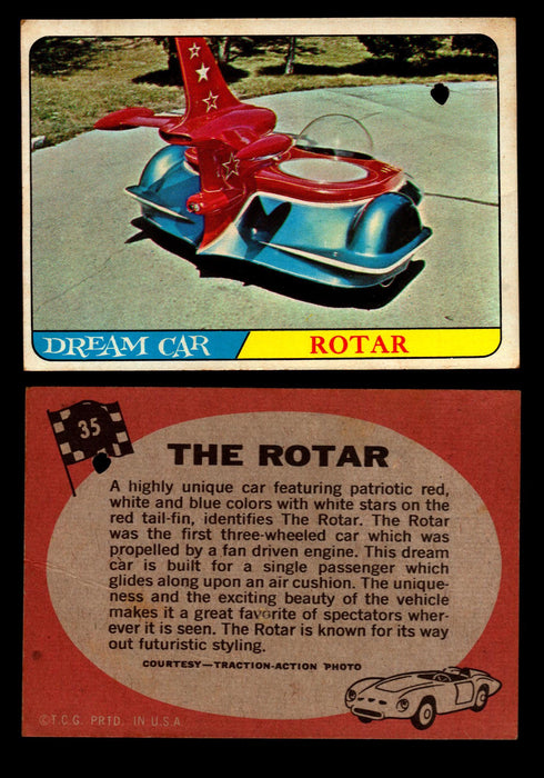 Hot Rods Topps 1968 George Barris Vintage Trading Cards You Pick Singles #35 The Rotar  - TvMovieCards.com