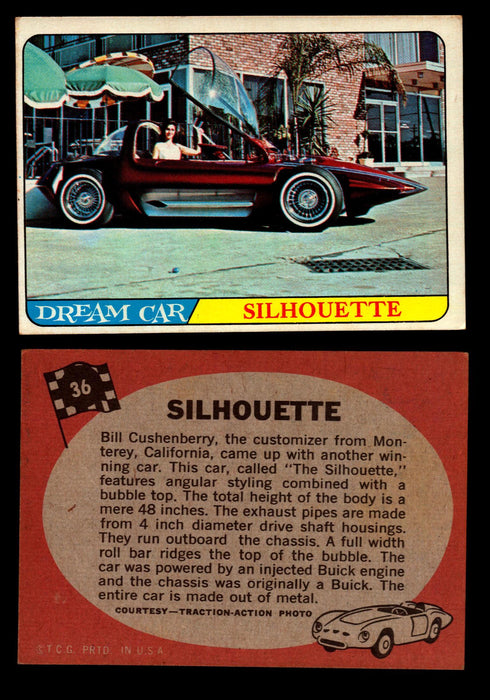 Hot Rods Topps 1968 George Barris Vintage Trading Cards You Pick Singles #36 Silhouette  - TvMovieCards.com