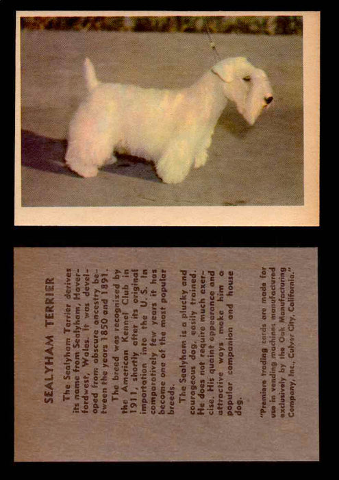 1957 Dogs Premiere Oak Man. R-724-4 Vintage Trading Cards You Pick Singles #1-42 #36 Sealyham Terrier  - TvMovieCards.com