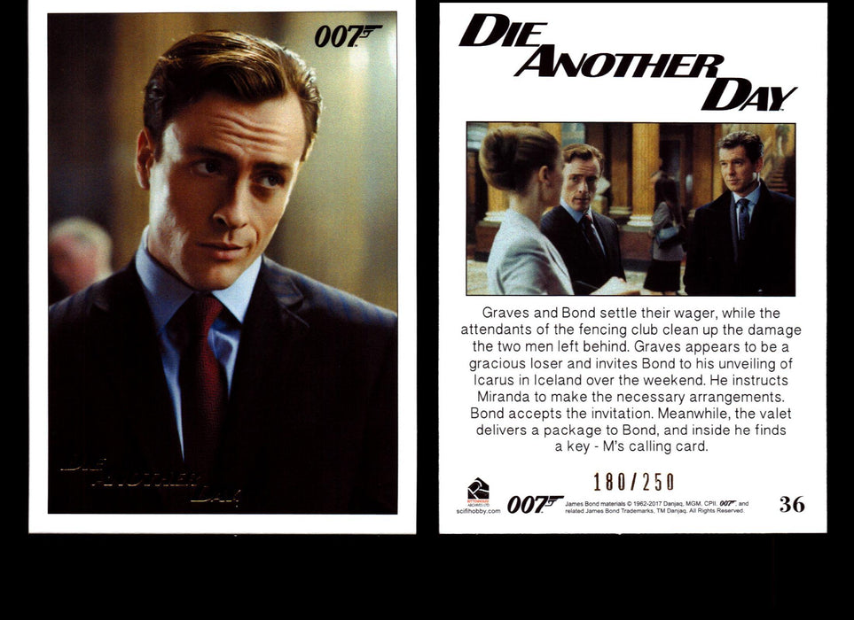 Die Another Day Gold Stamped Base Card #15 James Bond Archives 2017 Final Ed