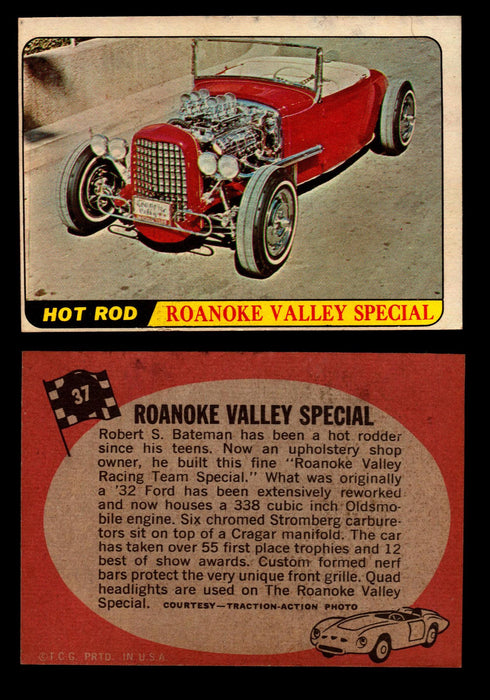 Hot Rods Topps 1968 George Barris Vintage Trading Cards You Pick Singles #37 Roanoke Valley Special  - TvMovieCards.com