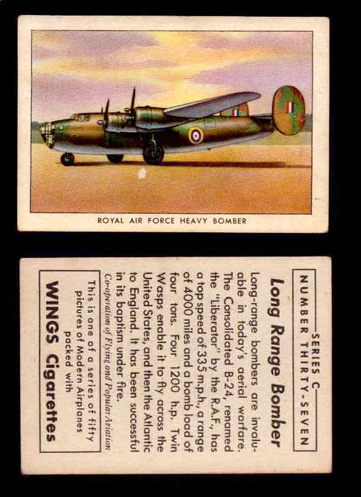 1942 Modern American Airplanes Series C Vintage Trading Cards Pick Singles #1-50 37	 	Royal Air Force Heavy Bomber  - TvMovieCards.com