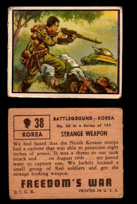 1950 Freedom's War Korea Topps Vintage Trading Cards You Pick Singles #1-100 #38  - TvMovieCards.com