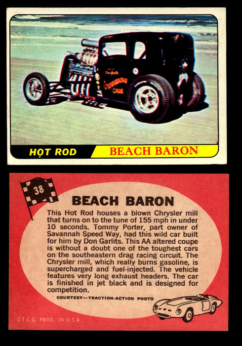 Hot Rods Topps 1968 George Barris Vintage Trading Cards You Pick Singles #38 Beach Baron  - TvMovieCards.com