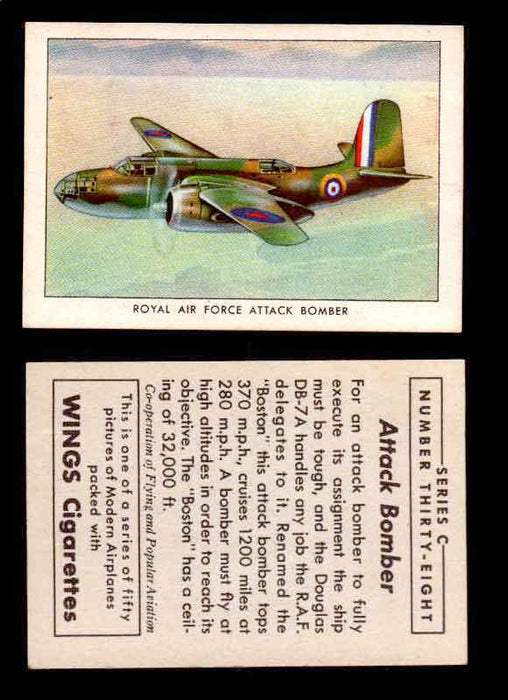 1942 Modern American Airplanes Series C Vintage Trading Cards Pick Singles #1-50 38	 	Royal Air Force Attack Bomber  - TvMovieCards.com