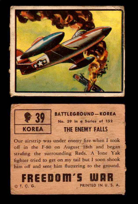 1950 Freedom's War Korea Topps Vintage Trading Cards You Pick Singles #1-100 #39  - TvMovieCards.com