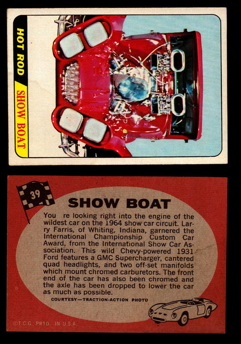 Hot Rods Topps 1968 George Barris Vintage Trading Cards You Pick Singles #39 Show Boat  - TvMovieCards.com