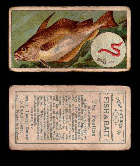1910 Fish and Bait Imperial Tobacco Vintage Trading Cards You Pick Singles #1-50 #39 The Pouting  - TvMovieCards.com