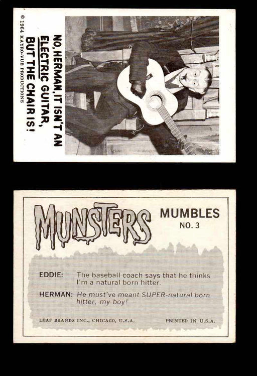 1964 Munsters Leaf USA White Back Vintage Trading Cards You Pick Singles #1-72 #3  - TvMovieCards.com