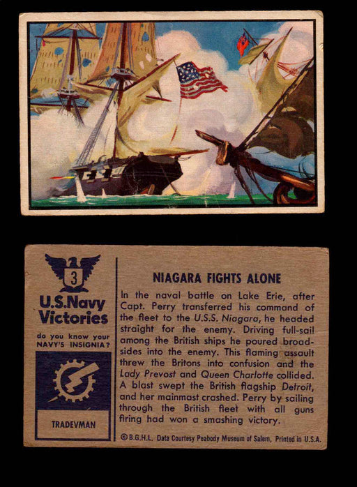 1954 U.S. Navy Victories Bowman Vintage Trading Cards You Pick Singles #1-48