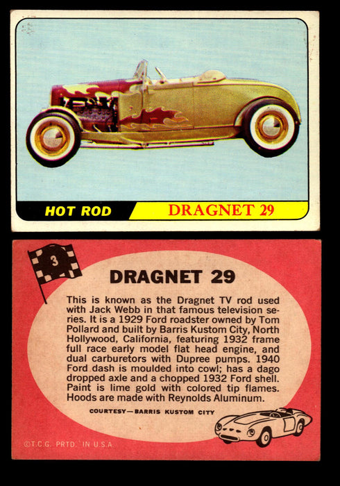 Hot Rods Topps 1968 George Barris Vintage Trading Cards You Pick Singles #3 Dragnet 29  - TvMovieCards.com