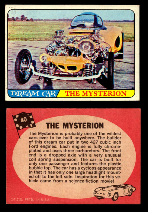 Hot Rods Topps 1968 George Barris Vintage Trading Cards You Pick Singles #40 The Mysterion  - TvMovieCards.com