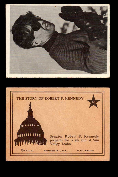 1968 The Story of Robert F. Kennedy JFK PCGC Trading Card You Pick Singles #1-66 #41  - TvMovieCards.com