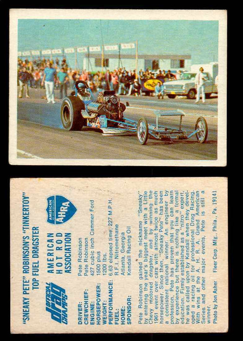 "AHRA Official Drag Champs 1971 Fleer Vintage Trading Cards You Pick Singles 41   ""Sneaky Pete"" Robinson's ""Tinkertoy""             Top Fuel Dragster  - TvMovieCards.com"