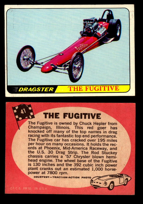 Hot Rods Topps 1968 George Barris Vintage Trading Cards You Pick Singles #41 The Fugitive  - TvMovieCards.com