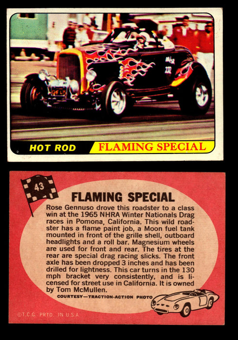 Hot Rods Topps 1968 George Barris Vintage Trading Cards You Pick Singles #43 Flaming Special  - TvMovieCards.com