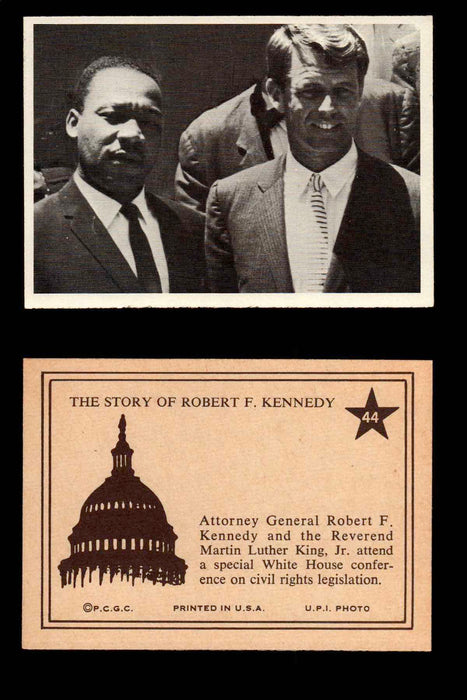 1968 The Story of Robert F. Kennedy JFK PCGC Trading Card You Pick Singles #1-66 #44  - TvMovieCards.com