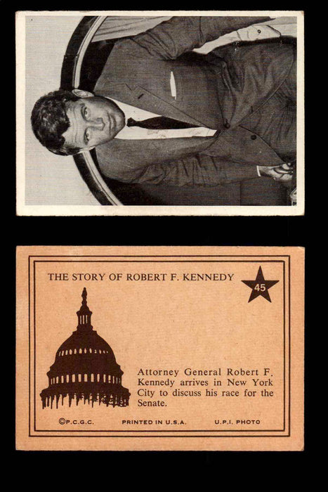 1968 The Story of Robert F. Kennedy JFK PCGC Trading Card You Pick Singles #1-66 #45  - TvMovieCards.com