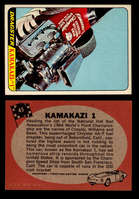 Hot Rods Topps 1968 George Barris Vintage Trading Cards You Pick Singles #45 Kamakazi 1  - TvMovieCards.com