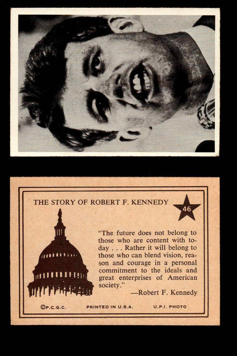 1968 The Story of Robert F. Kennedy JFK PCGC Trading Card You Pick Singles #1-66 #46  - TvMovieCards.com