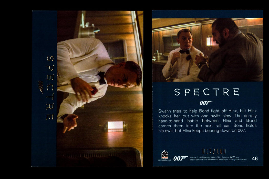 James Bond Archives 2016 Spectre Gold Parallel Base Card #27