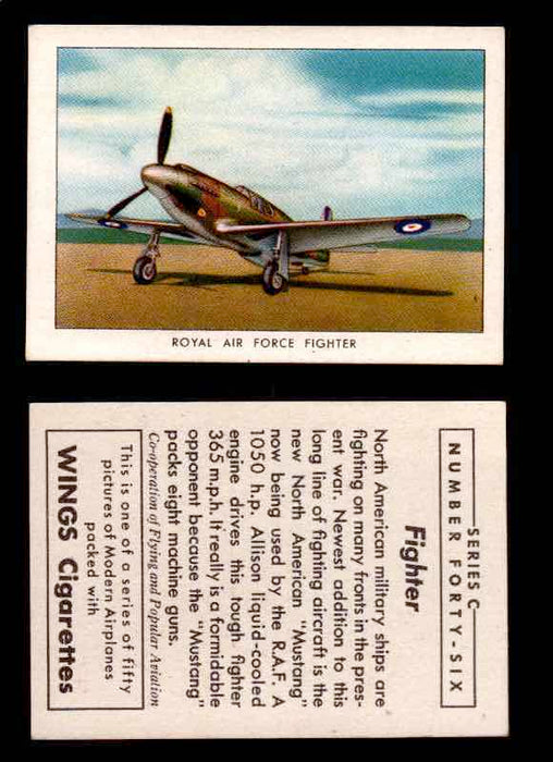 1942 Modern American Airplanes Series C Vintage Trading Cards Pick Singles #1-50 46	 	Royal Air Force Fighter  - TvMovieCards.com