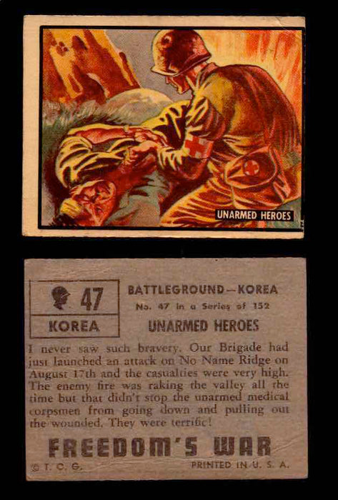 1950 Freedom's War Korea Topps Vintage Trading Cards You Pick Singles #1-100 #47  - TvMovieCards.com
