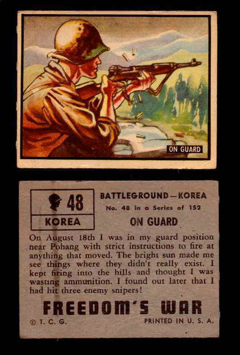 1950 Freedom's War Korea Topps Vintage Trading Cards You Pick Singles #1-100 #48  - TvMovieCards.com