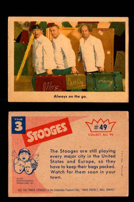 1959 Three 3 Stooges Fleer Vintage Trading Cards You Pick Singles #1-96 #49  - TvMovieCards.com