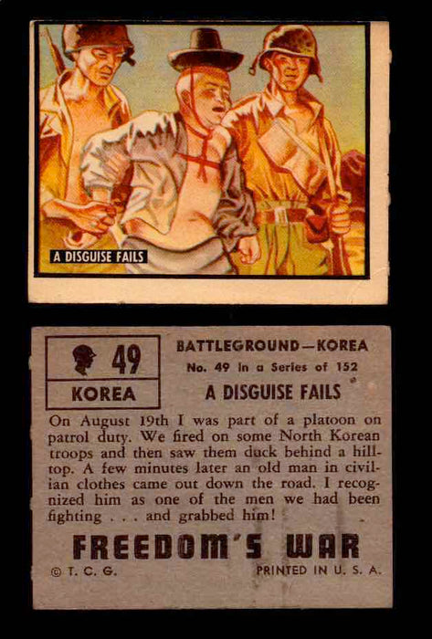 1950 Freedom's War Korea Topps Vintage Trading Cards You Pick Singles #1-100 #49  - TvMovieCards.com